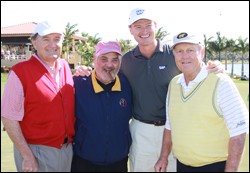 Star golfers Raymond Floyd, Ernie Els and Jack Nicklaus join <i>Cigar Aficionado</i> publisher and editor Marvin R. Shanken at the second annual Els for Autism pro-am.