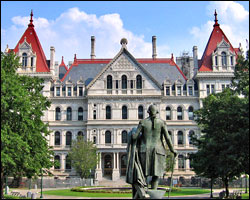 New York's state capitol building in Albany.