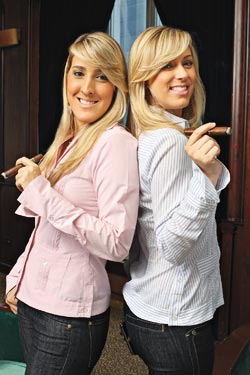 Patricia, left, and Raquel Quesada have worked in the family cigar business since 1997 and 2000, respectively.
