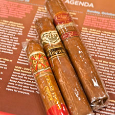 Each attendee received a bag filled with the top three non-Cuban cigars of 2010 .