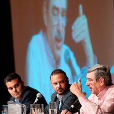 Christian Eiroa, Nestor Plasencia and Manuel Quesada spoke to attendees about hybrid tobacco.