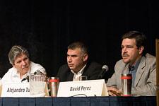 Eduardo Fernandez, owner of Aganorsa in Nicaragua, Alejandro Turrent of A. Turrent Cigars in Mexico, David Perez of ASP Enterprises Inc.