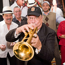 Arturo Sandoval played at the Fuente booth during the 2010 Big Smoke Las Vegas evening party.
