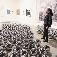 """""""Narcissus Garden"""" by Yayoi Kusama, appeared in the Robert Miller Gallery."""