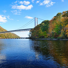 Bear Mountain Bridge leads to New York's Bear Mountain State Park.