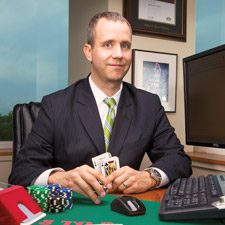 Professional financial advisor Nathaniel Tilton has turned card-counting into a lucrative sideline.