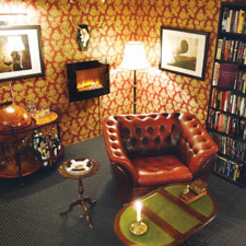 Most man caves feature television sets, but not the one owned by Rune Jensen of Esbjerg, Denmark. His cigar-friendly basement sanctuary features old jazz records and hardcover books.