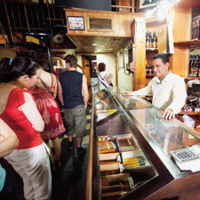 The Casa del Habano at the Partagás Cigar Factory always seems to be packed with eager buyers.