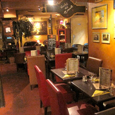 Inside Cubana Café's Smokehouse section.