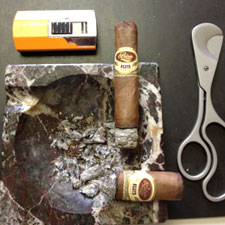 At the wire: the Bettridge cigar (bottom right) wins in a walk.