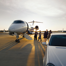 Private jet travelers often enjoy the convenience of being dropped off and picked up right at the steps of their flight.