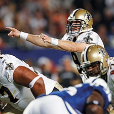 New Orleans Saints quarterback Drew Brees will try to lead his team to another Super Bowl win this year.
