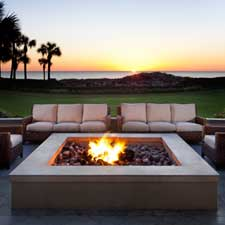 Smoking is encouraged at the fire pit area of Ritz-Carlton Amelia Island.