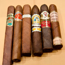 The six cigars attendees received for the Saturday Seminars.