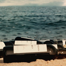 Bottles of Canadian whisky wash ashore in the opening credits of HBO's 