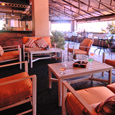 The recently renovated patio area at Charley's is smoke-friendly.
