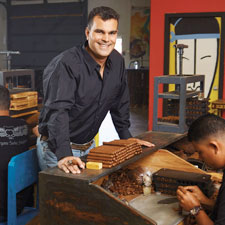 Christian Eiroa of CLE Cigars at his Wynwood Cigar Factory in Miami.