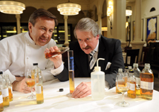 Chef Daniel Boulud, left, collaborated with The Dalmore's Richard Paterson to create his single-malt Scotch.
