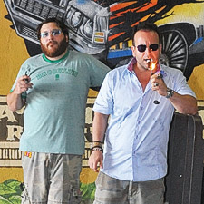 Jonathan Drew, left, and Marvin Samel, cofounders of Drew Estate Cigar Company.