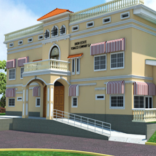 A computer rendition of what Drew Estate's new, state-of-the-art, pre-industry tobacco warehouse will look like when complete.