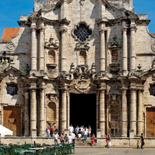 The Catedral de Havana is one of the oldest in the city.