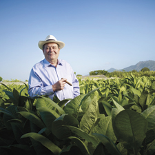 "Hendrik ""Henke"" Kelner feels quite at home in the fields of the Dominican Republic, where he has been making cigars for more than 30 years."