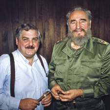 After nearly two years of effort, Marvin R. Shanken interviewed Cuban President Fidel Castro at the Palace of the Revolution in Havana.