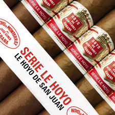 The new Hoyo de Monterrey Le Hoyo de San Juan is 5 7/8 inches by 54 ring gauge, one of the thickest cigars ever produced in the Le Hoyo line.