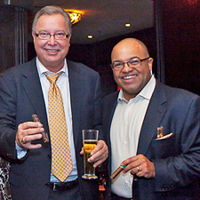 Ron Jaworski, left, with ESPN's Mike Tirico at last year's event.