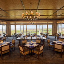 The Atlantic Room offers views of the ocean while you dine and smoke.