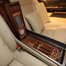 The size of the humidor in the Linley limited-edition Bentley Continental Flying Spur can be tailored to the cigars favored by the car's owner.