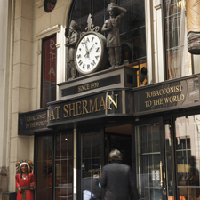 Located on 42nd Street, the Nat Sherman Townhouse is a gorgeous, three-story store.