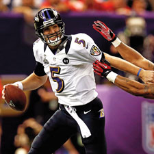 Baltimore Ravens quarterback Joe Flacco survived a brutal 49ers attack during Super Bowl XLVII. Can the best Baltimore QB since Johnny Unitas lead the Ravens to a repeat Lombardi Trophy?