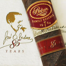 Padrón No. 85 will come 10 to the box, five atop of five, with a suggested retail price of $20 per cigar.