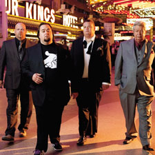 "Stepping out in Las Vegas are show stars Rick Harrison, fan favorite Austin ""Chumlee"" Russell, Corey ""Big Hoss"" Harrison and Richard Harrison, fondly known to viewers as ""The Old Man."""