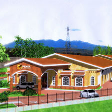 An artist rendition of the Newman's new Puros de Estel Nicaragua S.A. factory.