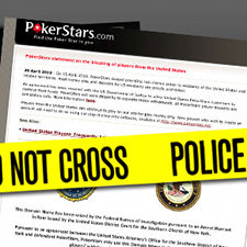 A screenshot of the PokerStars.com homepage, which was seized by the Department of Justice last Friday.