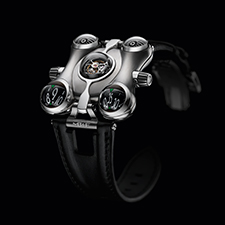 MB&F will only produce 50 Space Pirate titanium watches, while other metals could be used in future versions.