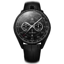 The Carrera Carbon Matrix Composite Concept Chronograph's design pays tribute to the original 1963 Carrera envisioned by Jack Heuer.