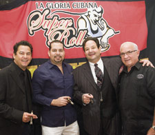 Team La Gloria, ready to spread the gospel to cigar lovers in Las Vegas, inclues, from left to right, Rick Rodriguez, Yuri Guillen, team leader Michael Giannini and 