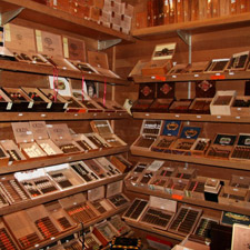 V Cut's humidor is full of the great cigars you'd expect to find in a metropolis.