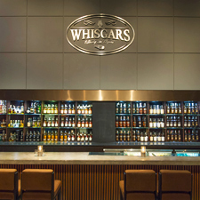 Whisgars liquor selection holds its own with 180 different whiskies.