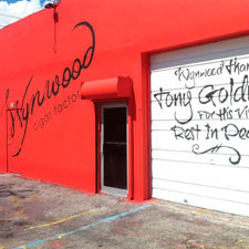 Wynwood Cigar Factory has a graffiti-message remembering the work of famed builder Tony Goldman, who died in September.