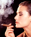 From the roles she plays to the cigars she smokes, actress Demi Moore makes her own choices.