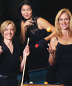Pool sharks Allison Fisher, Jeanette Lee and Ewa Laurance are three of the most recognizable women in professional pool today.